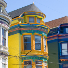 Homes in Haight District, San Francisco