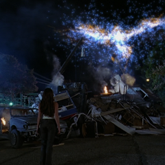 Wyatt uses Combustive Orbing on the Dragon.