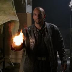 A Demon creates a fireball.