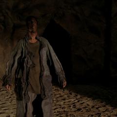 Piper freezes the Possessor Demon in mid-teleportation.