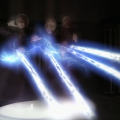 The Charmed Ones kill the Triad's spirit form through Advanced Electrokinesis.
