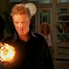 Nigel creates another fireball.