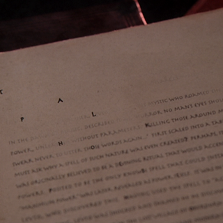 Letters start disappearing in the book Billie's reading.