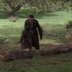 Saleel using Super Strength to strangle Seamus.