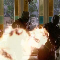 The Swarm Demons throwing fireballs.