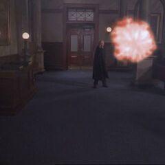 Judge throwing fireball at door, again.