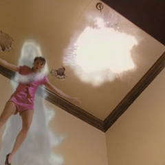 Piper blows up the chandelier.