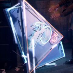 Leo repairs the P3 sign