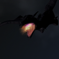 The Dragon starts breathing fire.