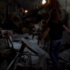 The Manor interior destroyed. (