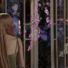 Miranda makes flowers grow in the Manor.