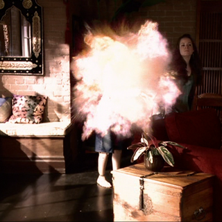 Christy heats up the potion from the inside, causing it to explode.