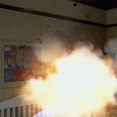 Piper blows up the member of the Order.