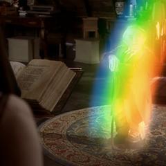 Andrew O'Brain rainbow teleporting in.