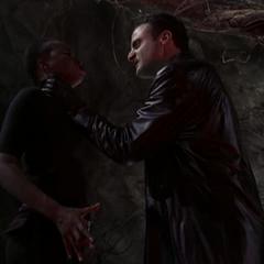 Saleel using Super Strength to strangle Jayda.
