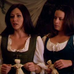 Prue and Piper with poppets.