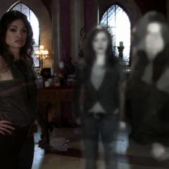 Phoenix, Patra and Pilar shapeshift back into themselves.