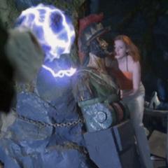 Necron attacks Paige.