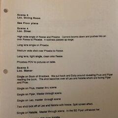Director's Shot List