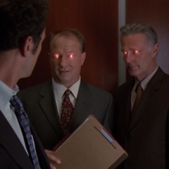 In Barbas' Illusion, the men in the elevator tell Cole they know he's Evil.