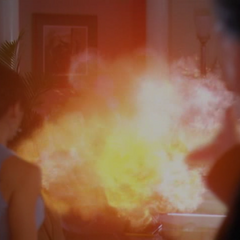Phoebe dodges Barbas' energy ball, which vanquish several demons.