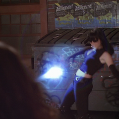 Black Heart throws an Energy Bolt at Billie.