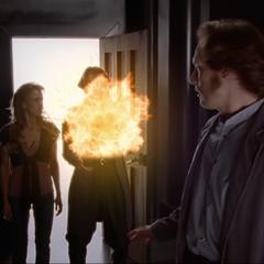 Piper blows up present Dumain.