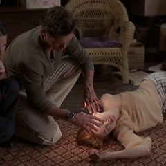 Leo healing Paige.