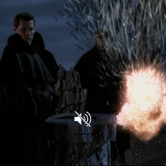 Piper blows up a member of the Order.