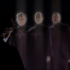 The Triad manifesting in Magic School.