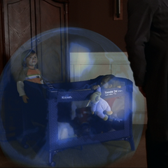 Wyatt raises his orb shield around his brother and himself.