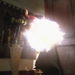 Rosaline Montana is hit by an Energy Ball.