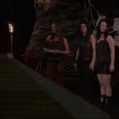 Pilar, Phoenix and Patra fading in.