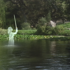 The Lady of the Lake using Water Teleportation.