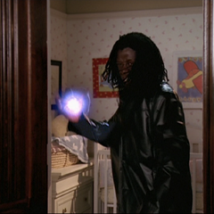 The Demon throwing an energy ball.