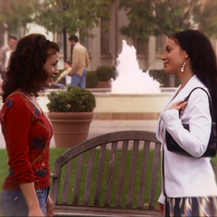 Phoebe has an Astral Premonition that allows her to talk to her future self.