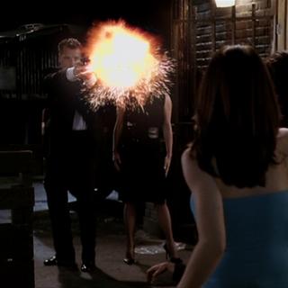 Carl Jenkins shoots the Stun Potion.