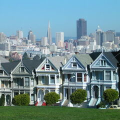 Very similar style homes in Alamo Square