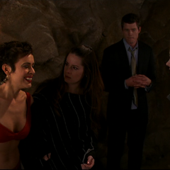 Another fireball is thrown at the Charmed Ones.