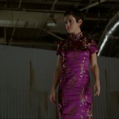Phoebe levitates to lure the Slime Demon.