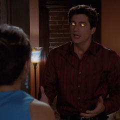 Barbas makes Phoebe see an Evil Miles.