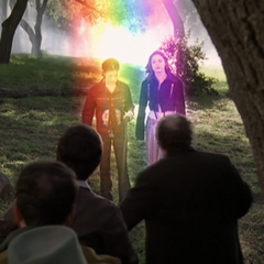 Phoebe and Paige Rainbow Teleporting in.