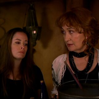 Piper and Grams creating the potion.