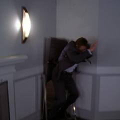 Walter Nance is flung by Billie.