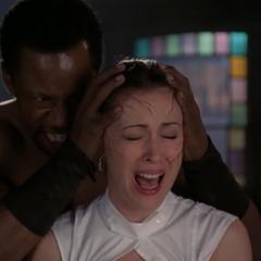 The Kazi Demon attack Phoebe, using Pressurization.
