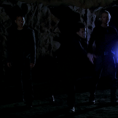 A Demon throws an Energy Ball at the Charmed Ones.
