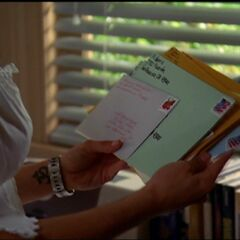 Phoebe receives letters from her readers.