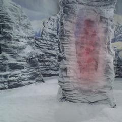 Demitrius heats the snow on Cronus' tomb.