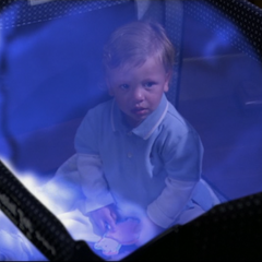 Wyatt raises his protective bubble to protect him from Gideon.