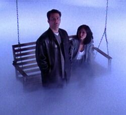 Andy and Prue on the ghostly plane